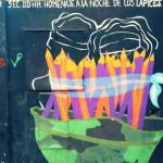 Mural homenaje a estudiantes desaparecidos Rectorado UNR